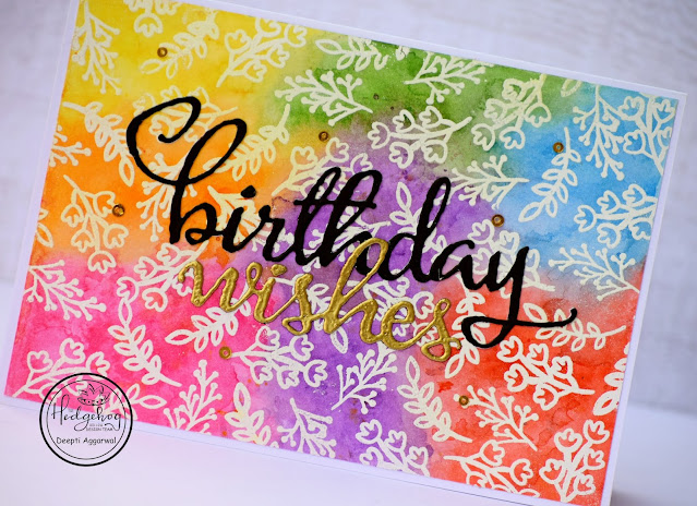 Water Colored Rainbow Background for small stamps