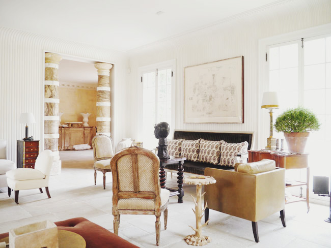 """Décor Inspiration: A Glimpse Inside the Place Karl Lagerfeld called """"the chicest house in America"""""""
