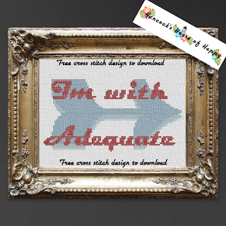 I'm With Adequate Free Anti-Valentine Cross Stitch Pattern