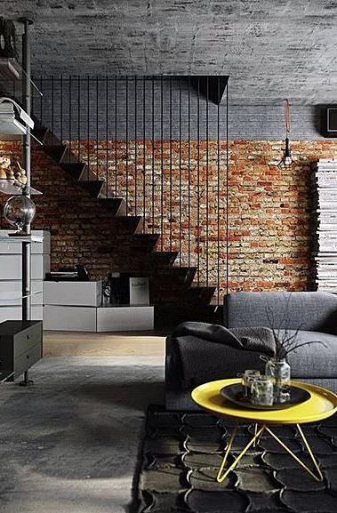 industrial living room design inspiration