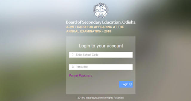 BSE Odisha 10th Admit Card Releases For Annual HSC Board Exam 2018