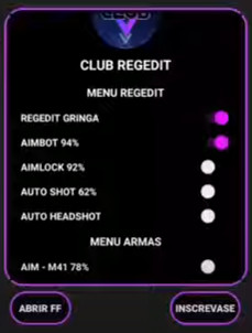 APK Club Regedit Free Fire Autokill Aimbot Headshot No Root
