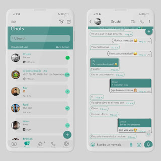 Simple Menta Theme For YOWhatsApp & RA WhatsApp By Ethel