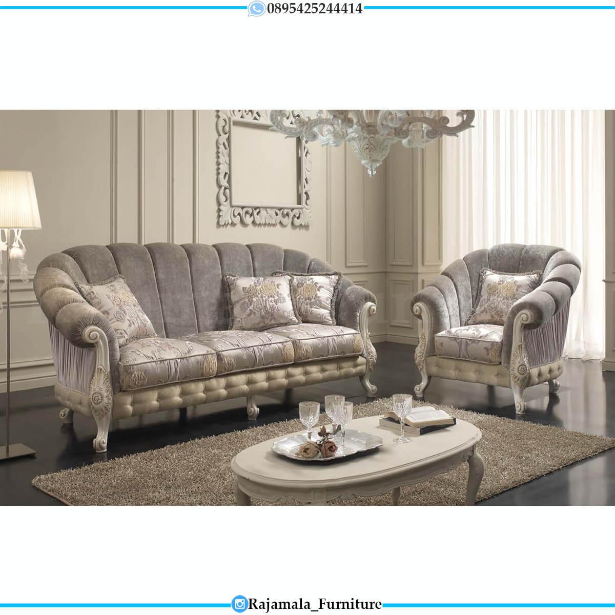 Jual Sofa Tamu Mewah Terbaru Soft Fabric Elegant Beludru RM-0749