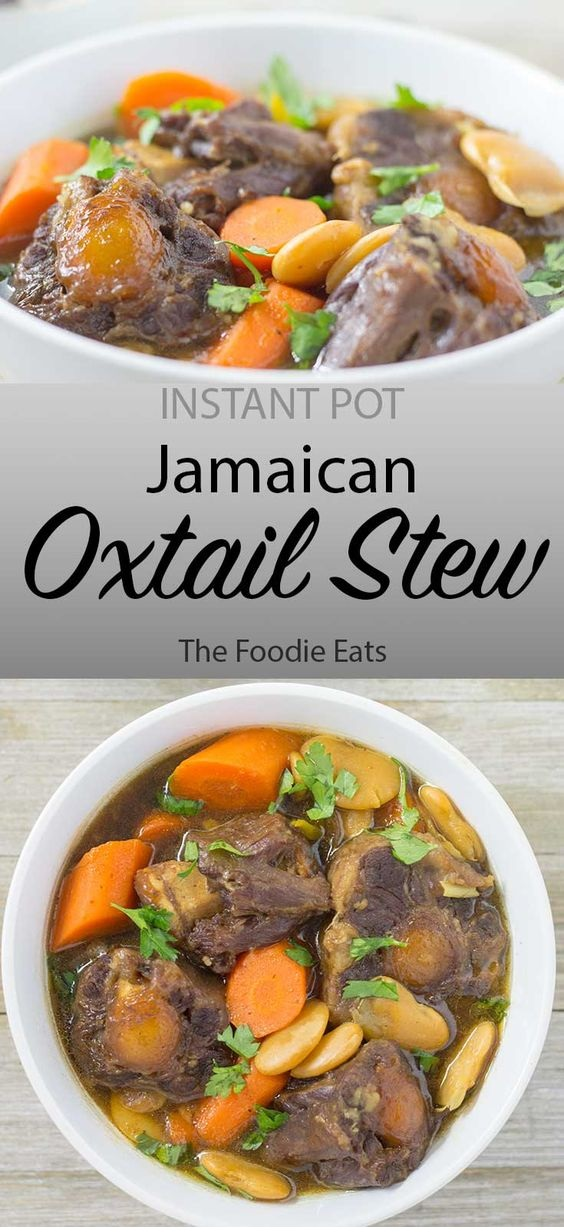 Pressure Cooker Jamaican Oxtail Stew
