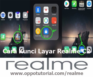 Cara Kunci Layar Realme C2