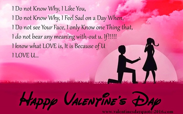 Best message proposal on valentines day