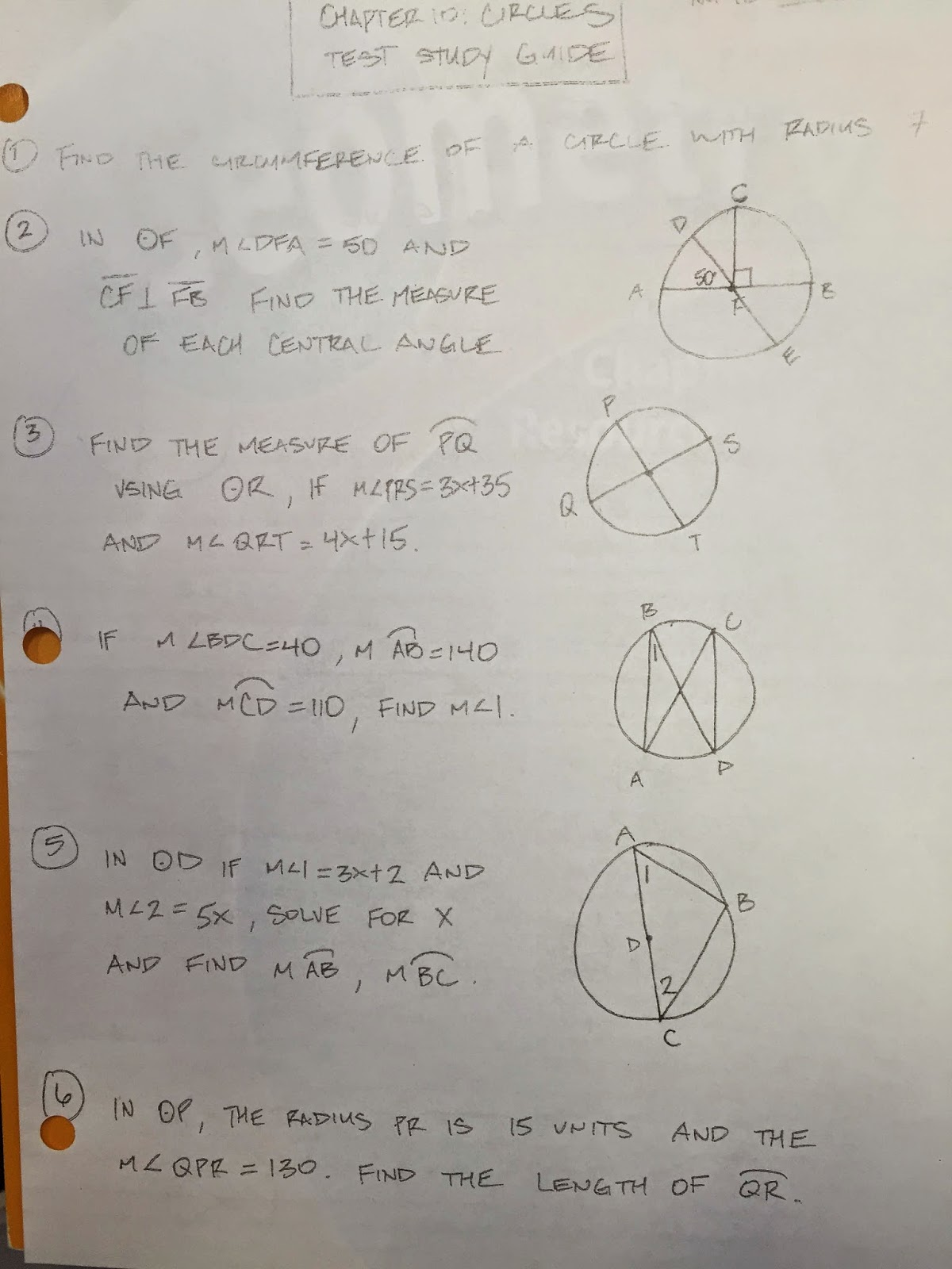 Honors Geometry Homework Answers For Section 10 1