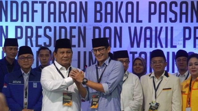 Final: Prabowo-Sandi unggul 343.192 Suara