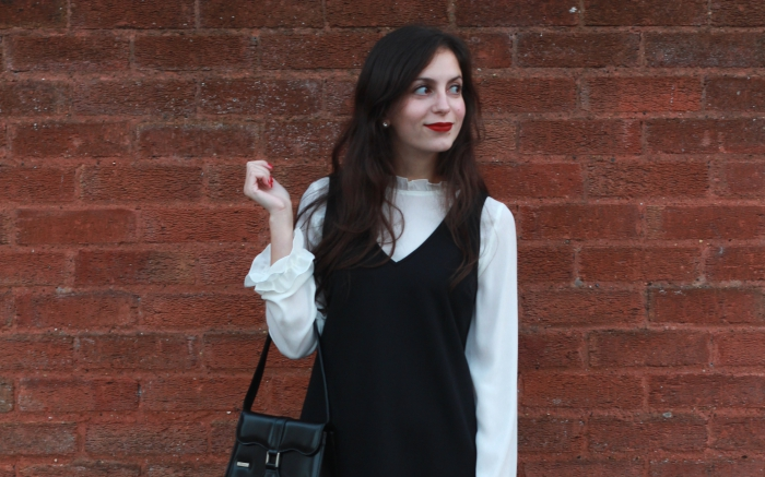 Primark black and white dress