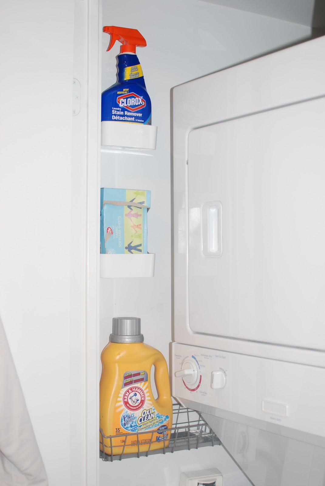 laundry room closet organization | Waffling: Organizing a Laundry Closet