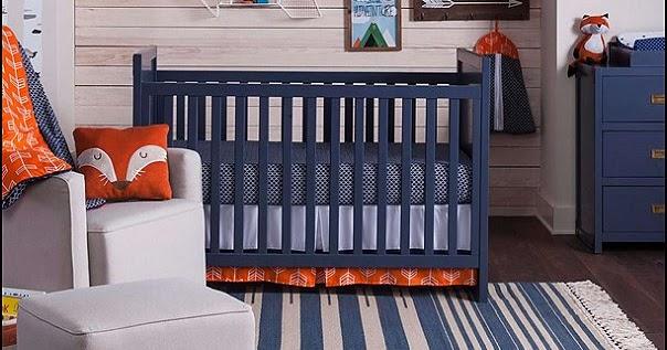 Orange Navy Blue With Fox Baby Room Ideas