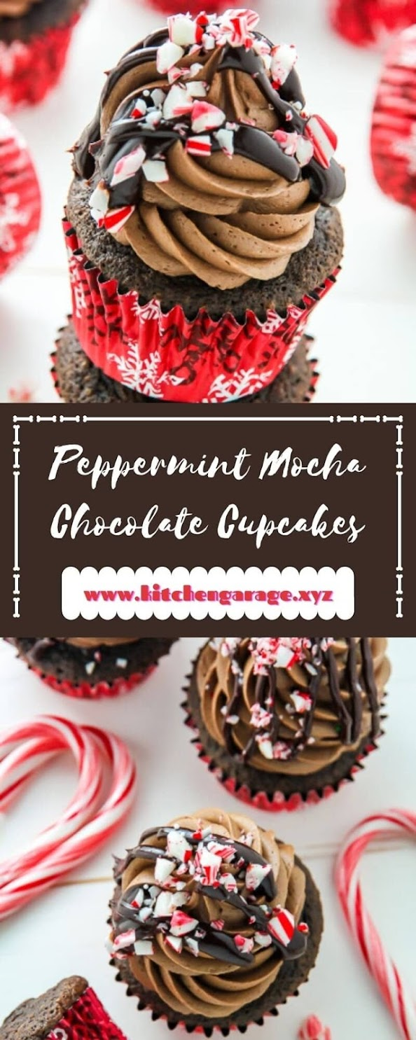 Peppermint Mocha Chocolate Cupcakes
