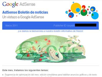Correo Google Adsense