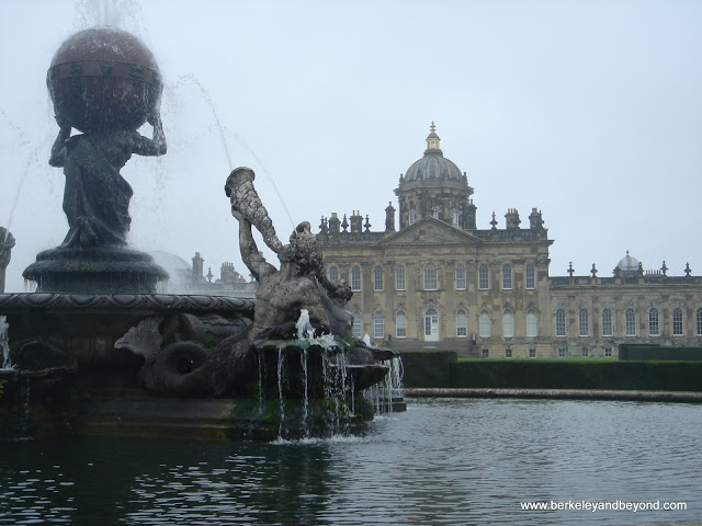 exterior fountain at Castle Howard in York, England