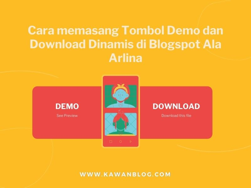 Cara membuat button demo dan download dinamis ala idntheme