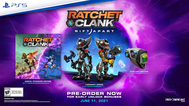 ratchet & clank rift apart ps5 exclusive base game third-person shooter performer 2021 insomniac games sony interactive entertainment