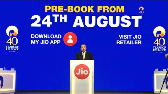 JIO PHONE ONLINE AND OFFLINE BOOKING START TODAY (AUGUST 24) AT 5PM