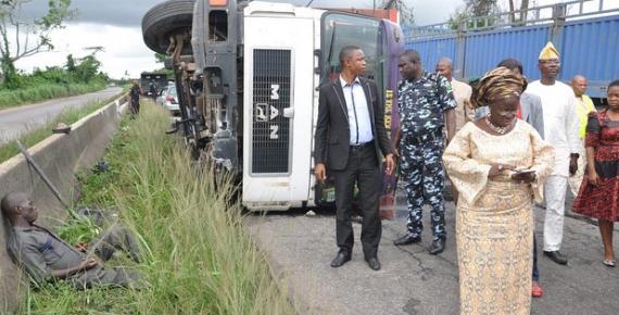ogun deputy governor rescued accident victim