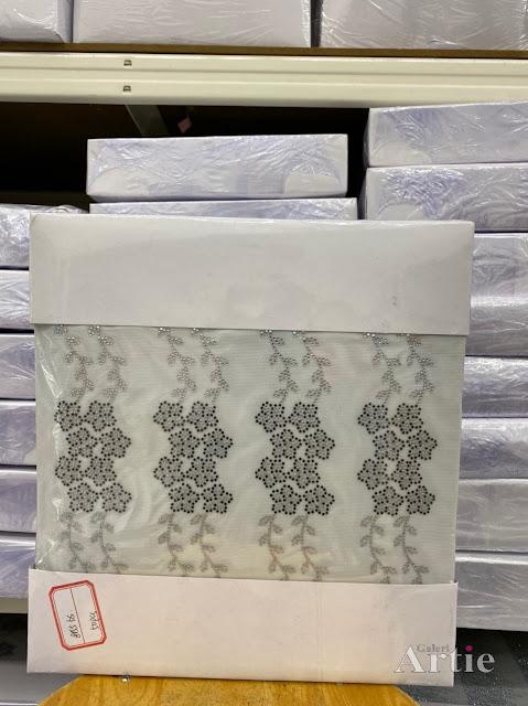 Hotfix sticker dmc tudung bawal fabrik  bunga daisy 8 kuntum