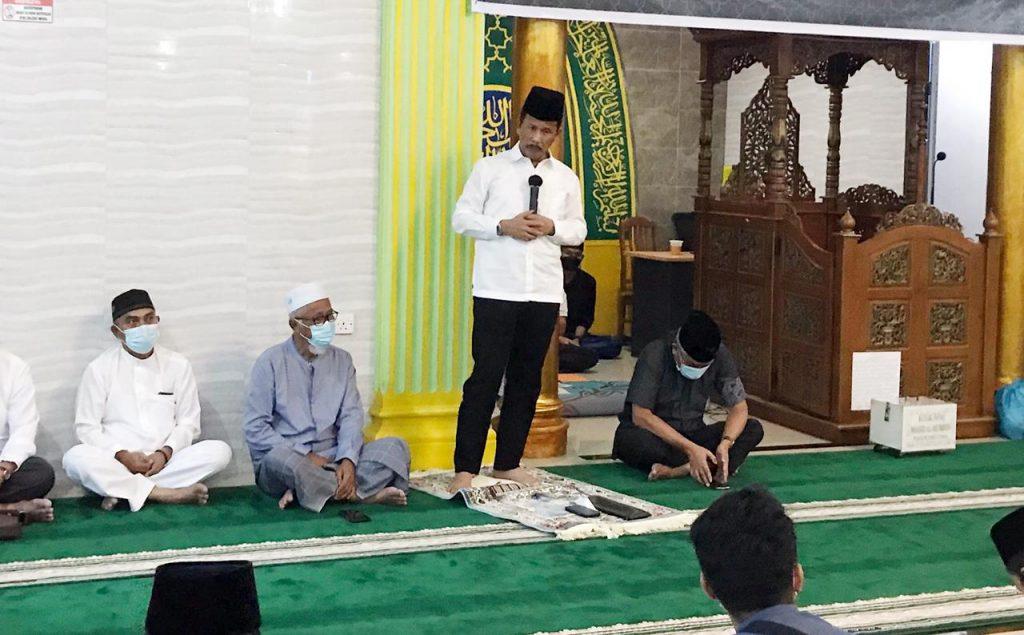 Safari Ramadhan di Masjid Al-Mu'minin di Tanjunguma, Rudi : Butuh Dukungan Masyarakat Untuk Menata Kampung Tua