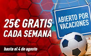 sportium Promo Abierto por Vacaciones hasta 4 agosto 2019