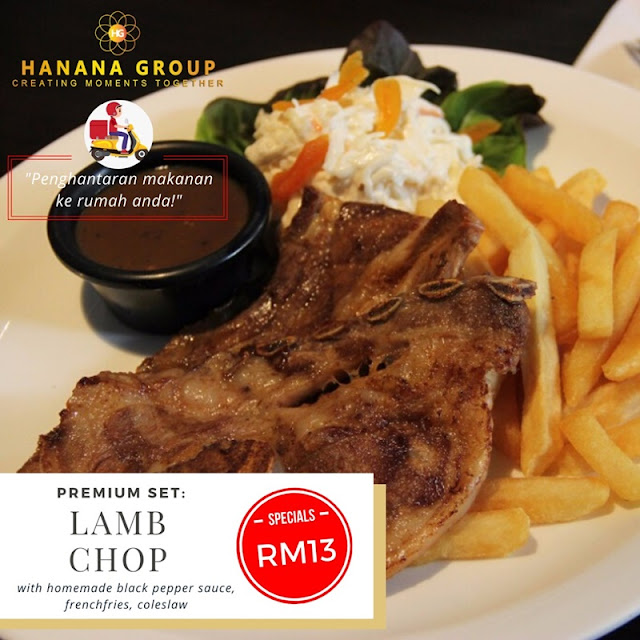 Lamb Chop (with homemade blackpapper sauce, coleslaw) RM13