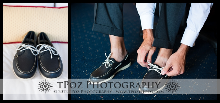 Boat shoes for an Annapolis Wedding