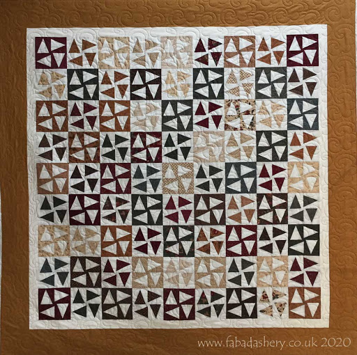 Mary's 'Around the Star' quilt with 'Popcorn' digital Quilting pattern by Willow Leaf Studio