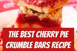 Best Cherry Pie Crumble Bars Recipe #cherry #pie #cherrype #cherryrecipes #pastry