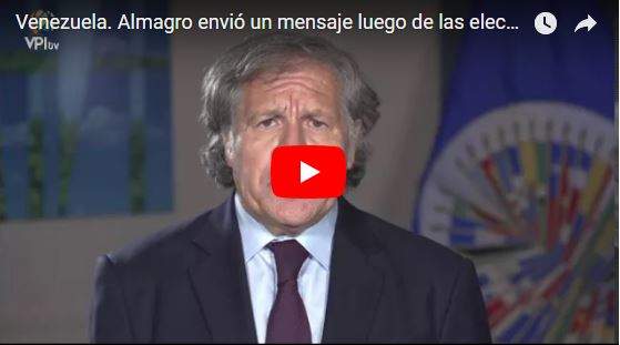 La OEA no reconoce resultados electorales en Venezuela