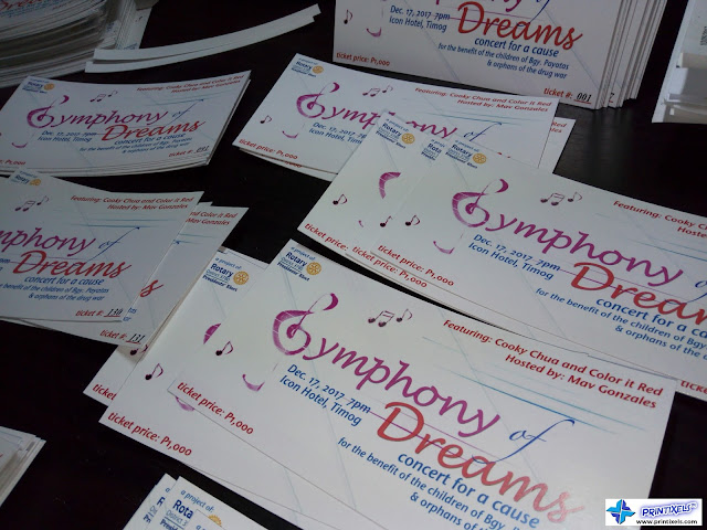 Event Tickets Printing Services | Printixels™ Philippines