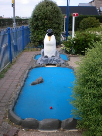Sea Dwellers Crazy Golf course in Chapel St Leonards in Lincolnshire