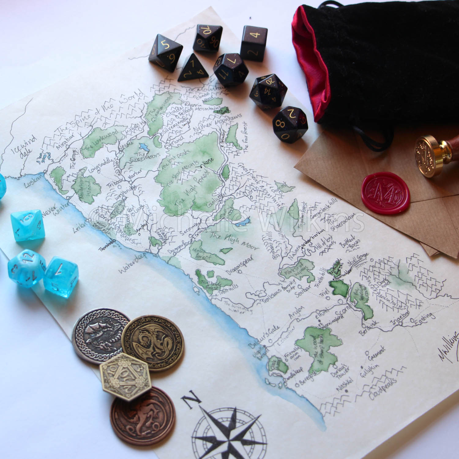 Made By Michelle: Sword coast map