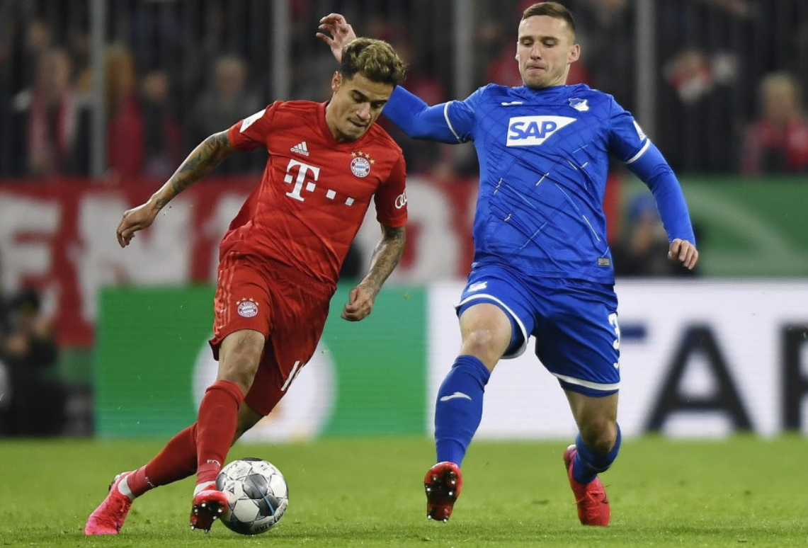 Philippe Coutinho in Bundesliga action for Bayern Munich
