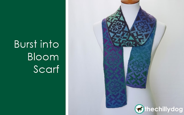 Burst into Bloom Scarf: Knitting Pattern Release Announcement