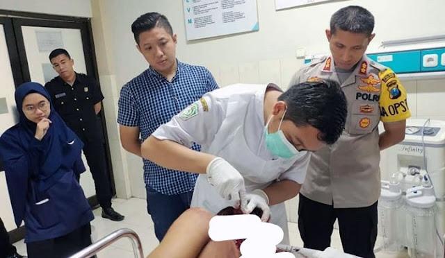 Korban saat dirawat di rumah sakit