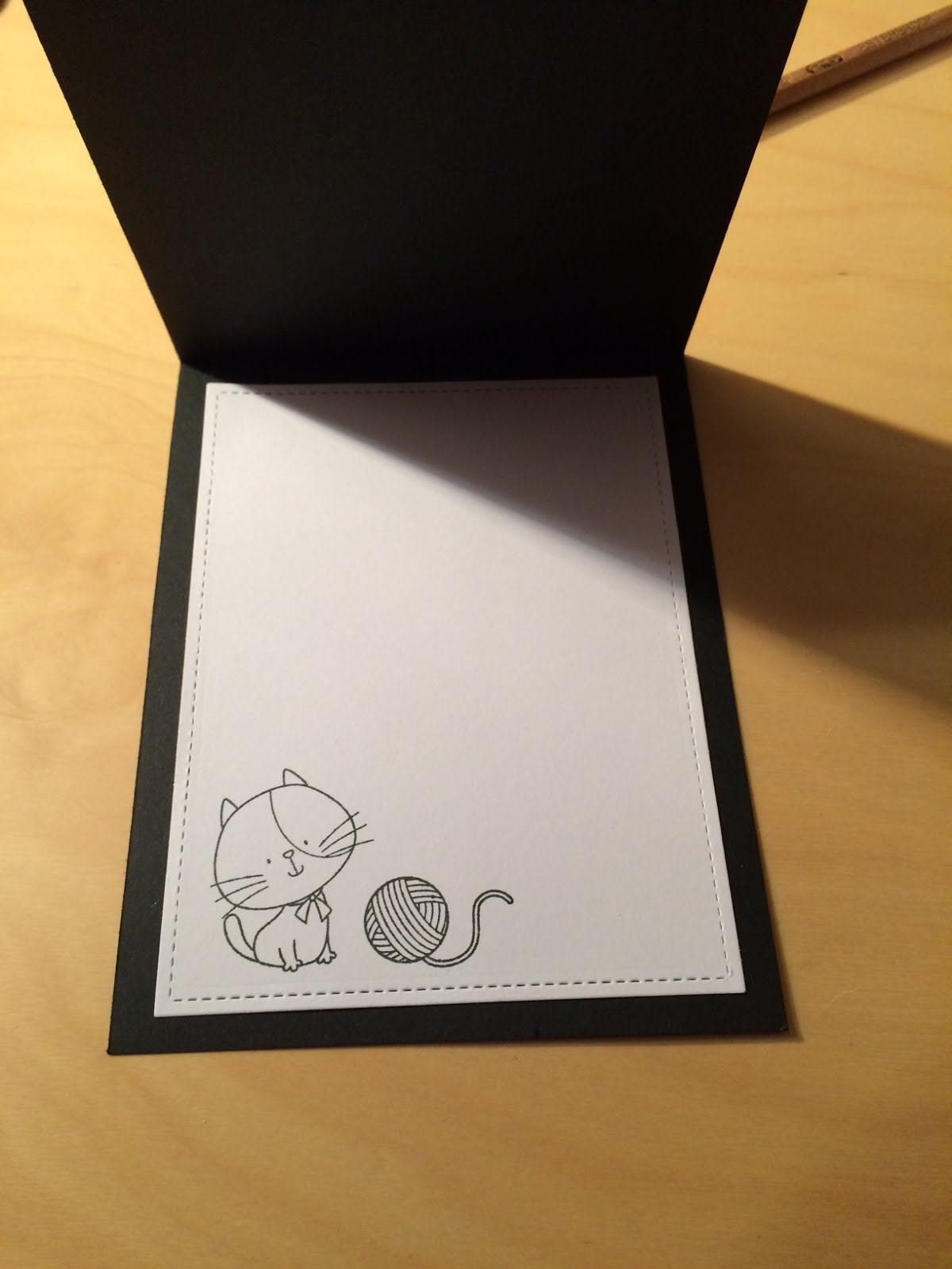 Inside of card with MFT kitty
