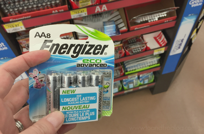 energizer eco advanced batteries in-store Walmart