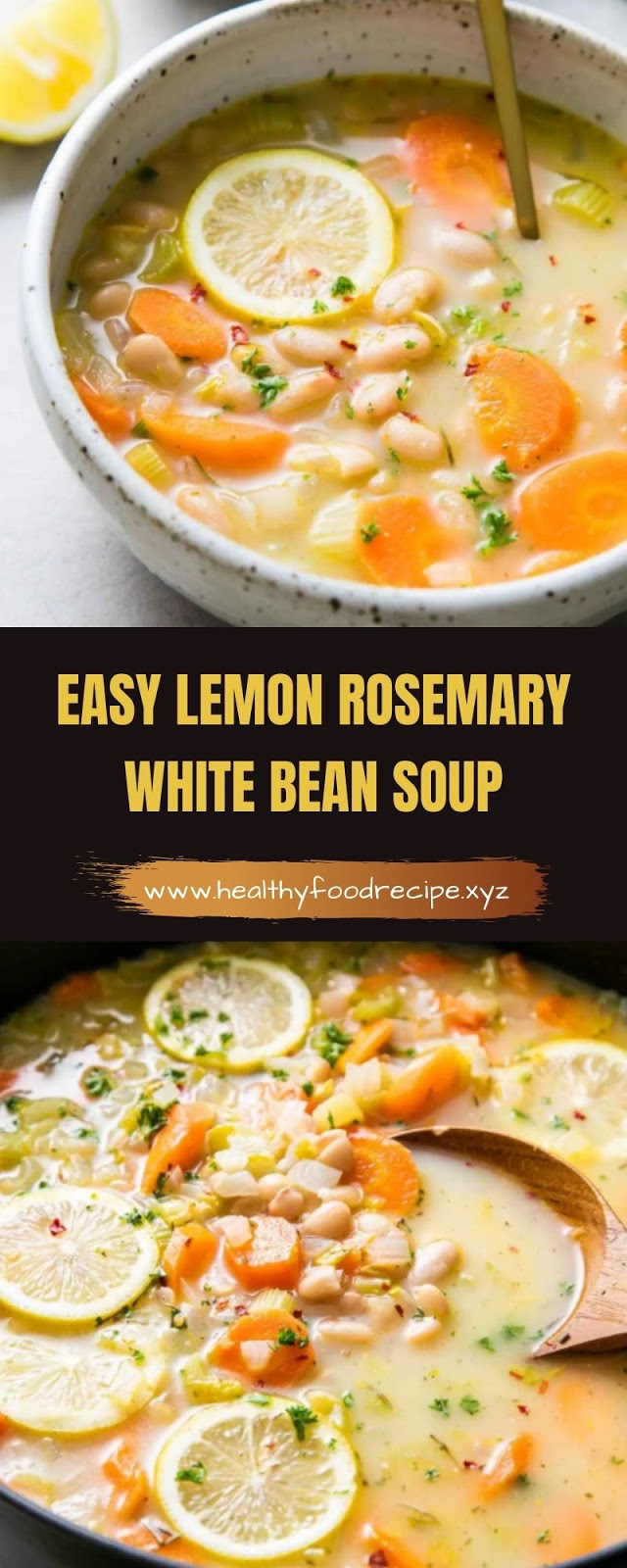 EASY LEMON ROSEMARY WHITE BEAN SOUP