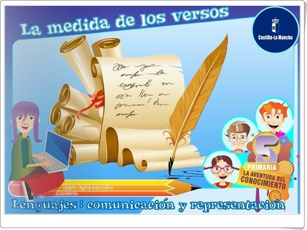 """""""La medida de los versos"""" (Aplicación interactiva de Lengua española de Primaria)"""
