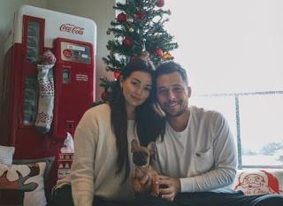 Xander Schauffele With His Girlfriend Maya Lowe And Their Puppy