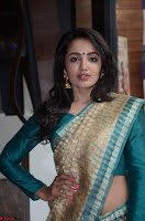 Tejaswi Madivada looks super cute in Saree at V care fund raising event COLORS ~  Exclusive 026.JPG
