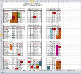 Kalender Pendidikan TA 2016/2017