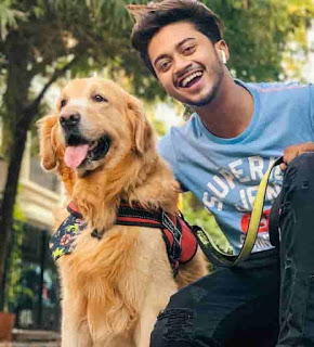 Hasnain khan With Dog