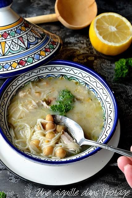 Chorba beida-soupe-algérienne-poulet-cannelle