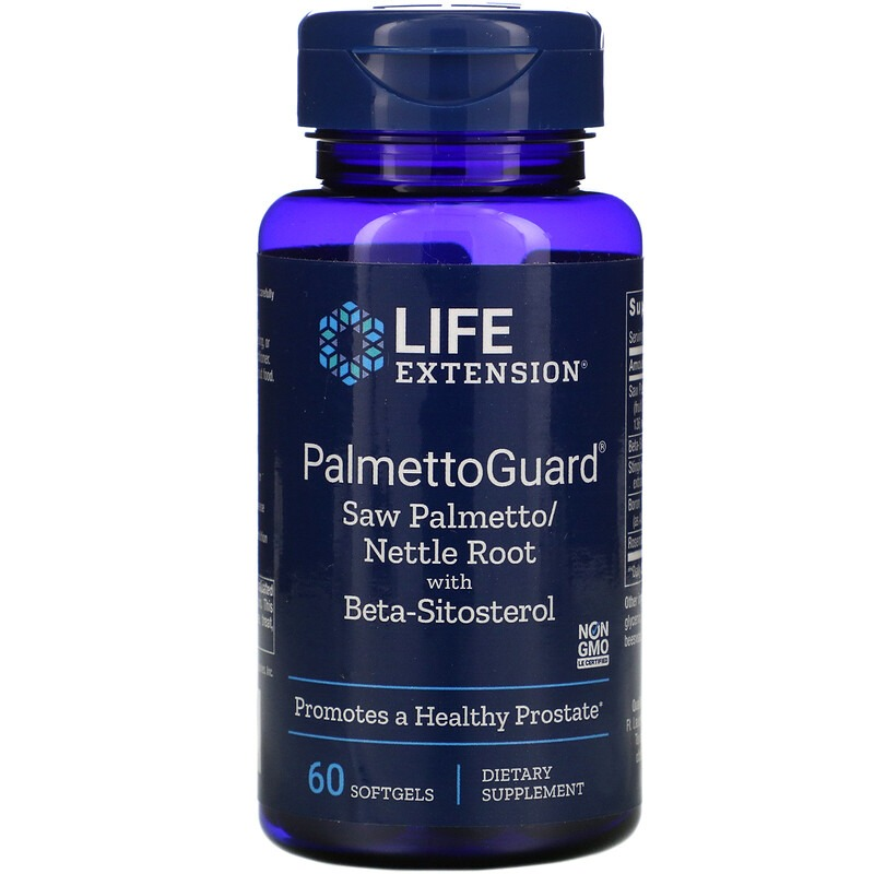 Life Extension, PalmettoGuard Saw Palmetto/Nettle Root with Beta-Sitosterol, 60 Softgels