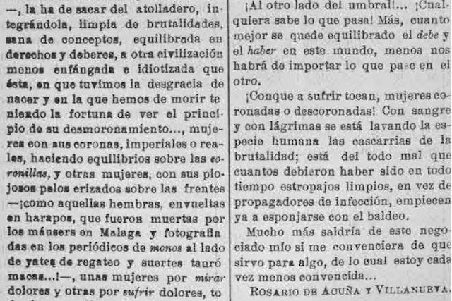 Fragmento del texto dirigido a Basilio Álvarez
