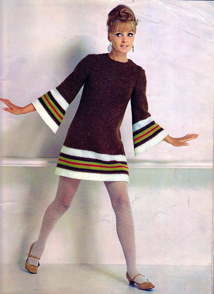 colorful women 39 s knitting sweaters of the 1960s vintage everyday. Black Bedroom Furniture Sets. Home Design Ideas