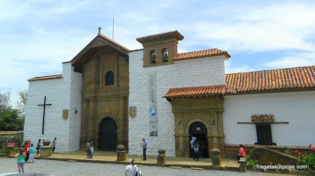 Fachada da igreja do Mosteiro Ecce Homo, Villa de Leyva, Colômbia